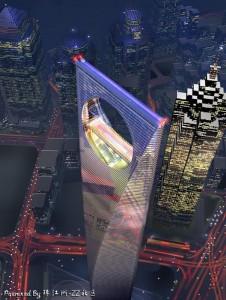 World Financial Center la plus grande tour de Shanghai-Chinecroissance