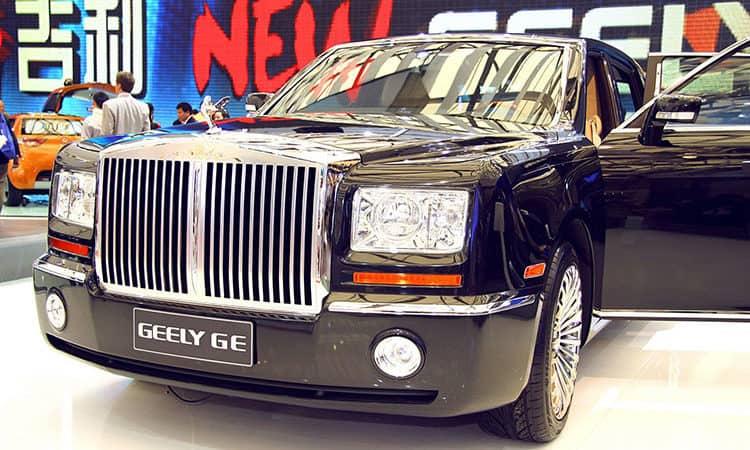 Geely soupçonné d'avoir copié la Phantom de Rolls Royce