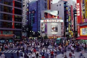 Un carrefour piéton du Japon