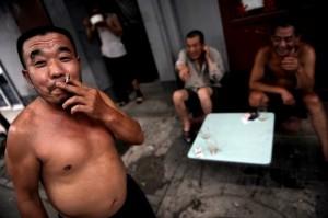Fumeur chinois