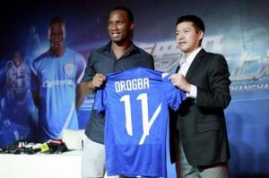Arrivée de Drogba dans le club chinois de Shanghai Shenhua-Chinecroissance