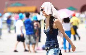 Grosse chaleur en Chine presque 40 degre a Shanghai-Chinecroissance